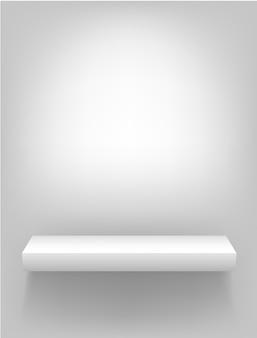 Étagère blanche pour des présentations sur fond clair