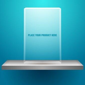 Étagère avec boîte transparente vide pour votre produit
