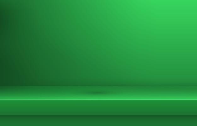 Étagère de couleur verte vide avec ombre