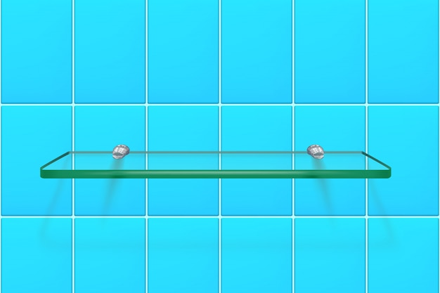 Étagère en verre transparent
