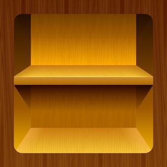 Étagères en bois pour les produits
