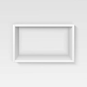 Étagères vide blanc étagère isolé sur le mur