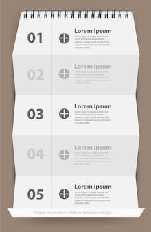 Étape d'affaires moderne plié bannière d'options de style de papier