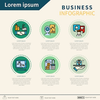 Etape business infographique