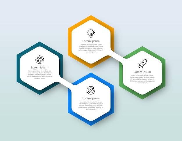 Étape de conception graphique de flux de travail infographique numéro graphique d'étape de processus infographique avec icônes de ligne concept d'information illustration du graphique d'information sur l'étape et infographie