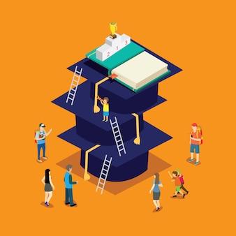 Étape de l'éducation avec isométrique