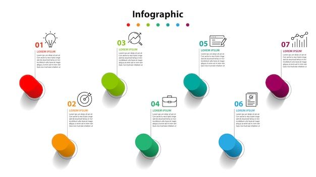 Étape élément infographique, planification infochart
