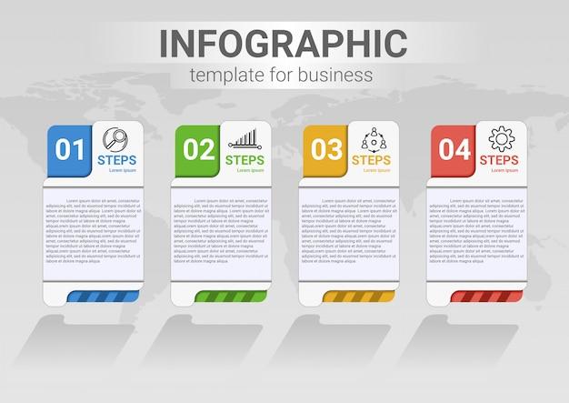 Étape de l'entreprise infographie