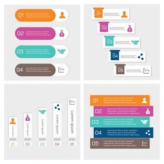 Étape infographic banner set