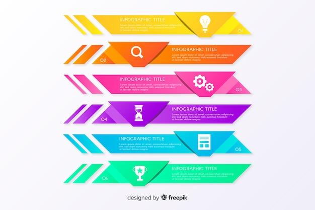 Étapes d'affaires infographiques