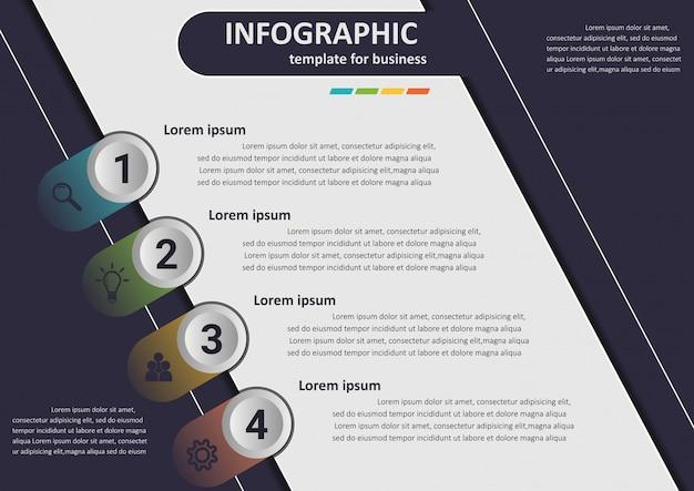 Les étapes commerciales vers le succès données infographiques