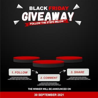 Étapes du cadeau du vendredi noir pour la conception d'un concours de médias sociaux