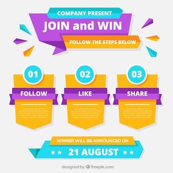 Les étapes du concours de médias sociaux