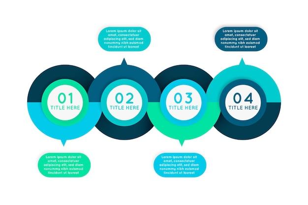 Étapes du design plat infographique