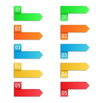 Étapes du processus. éléments d'infographie vectorielle.