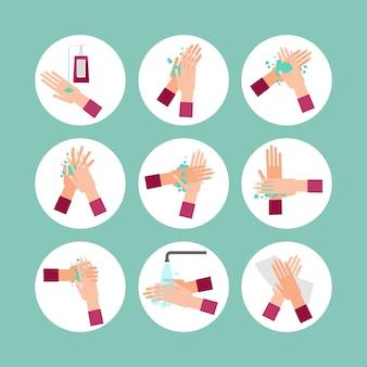 Étapes du programme de lavage des mains