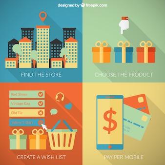 Étapes facile de magasiner en ligne
