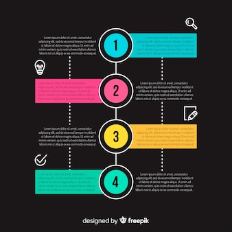 Étapes d'infographie de conception plate
