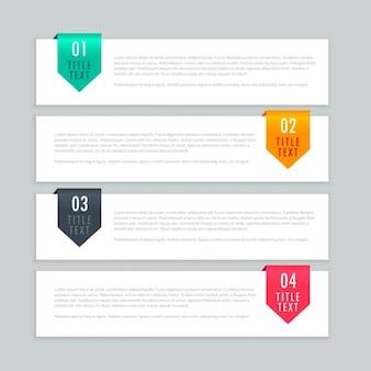 Étapes infographiques modèle de conception