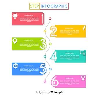 Étapes infographiques plat