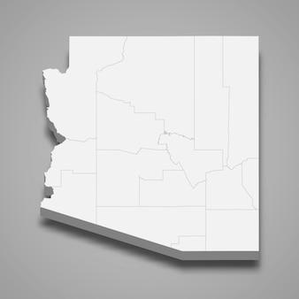 État de la carte 3d des états-unis