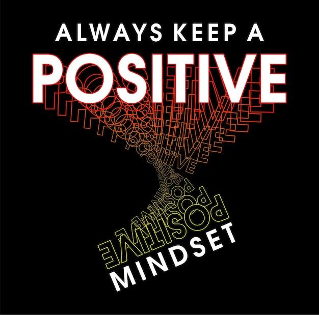État d'esprit positif citations de motivation t hirt inspirant conception graphique vetor