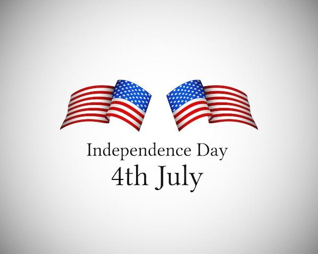 États-unis d'amérique 4 juillet fête de l'indépendance couvrir vector illustration