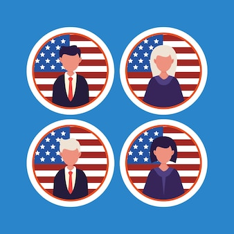 États-unis d'amérique, concept de la journée du président.