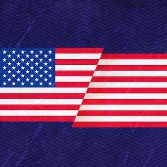 Les etats unis d'amérique drapeau