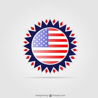 États-unis conception de badge gratuit