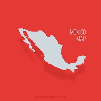 États-unis mexicains carte vectorielle