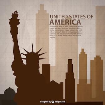 États-unis vecteur art