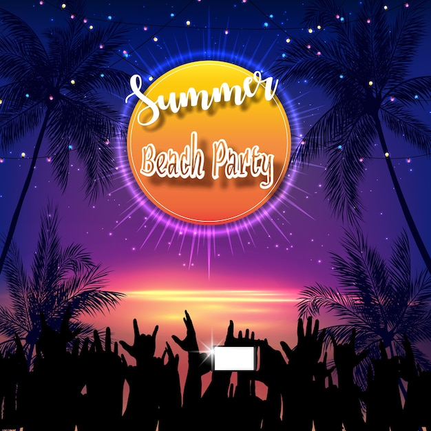 Été beach party flyer design