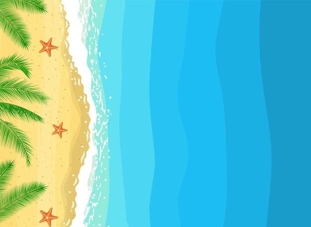 Été sur la composition de la plage avec espace de copie.