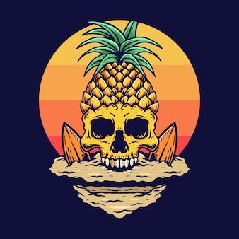 Été de crâne d'ananas vintage