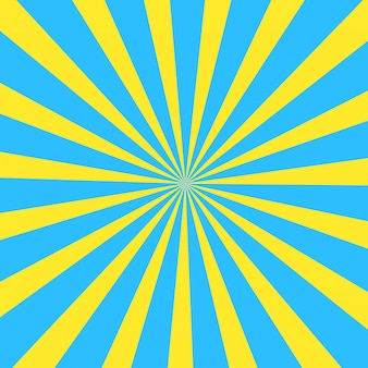 Été jaune et bleu cartoon cartoon sun background.