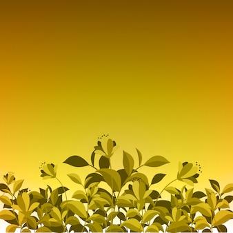 Été printemps blooming flower nature sur jaune d'or