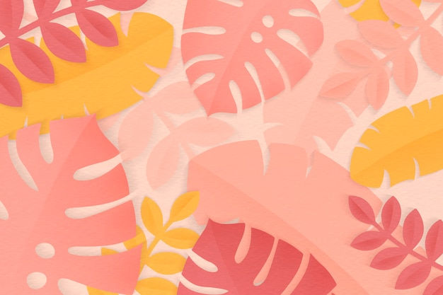 Été tropical feuilles colorées