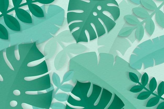 Été vert tropical feuilles