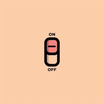Éteindre le modèle de logo de conception - image
