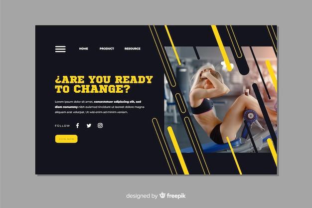 Êtes-vous lu page d'atterrissage de promotion de gym