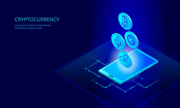 Ethereum bitcoin ripple coin crypto-monnaie numérique smartphone cellulaire web