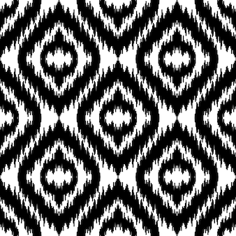 Ethnique blanc et noir sans couture imprimé textile abstrait boho papier peint géométrique