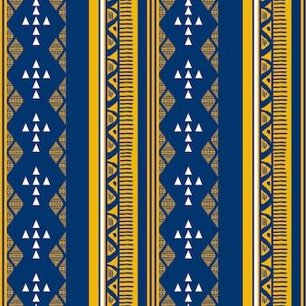 Ethnique modèle sans couture avec motif ikat