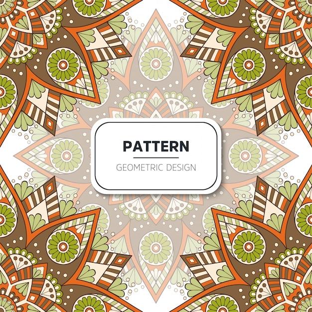 Ethnique motif floral sans couture avec mandalas