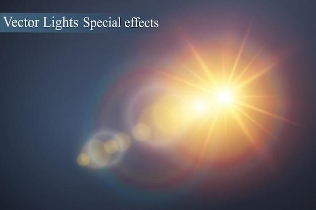 Des étincelles blanches scintillent d'un effet lumineux spécial. scintille sur fond transparent. modèle abstrait de noël. particules de poussière magique étincelante