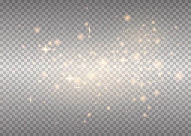Étincelles blanches scintillent effet lumineux spécial
