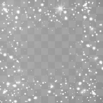Des étincelles blanches scintillent d'un effet lumineux spécial.