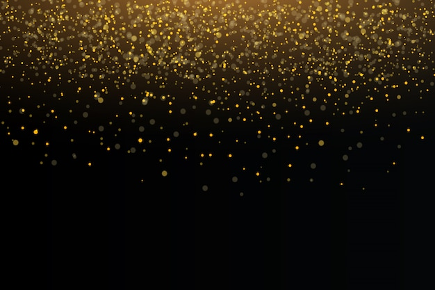 Étincelles d'or et étoiles dorées scintillent effet de lumière spécial