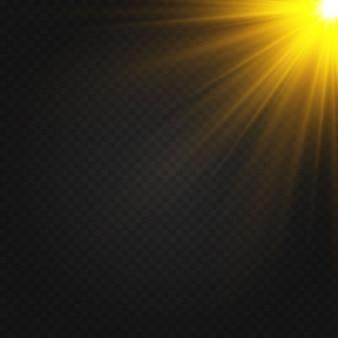 Les étincelles de poussière et les étoiles dorées brillent d'une lumière spéciale.